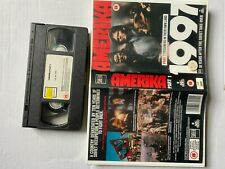 AmeriKa 1997 part 1 VHS Original 1987  Rare Video tape film pre owned free post