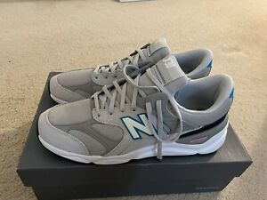 New Balance Men X-90 Low Gray Blue Lifestyle Running Shoes MSX90RCE Size 12