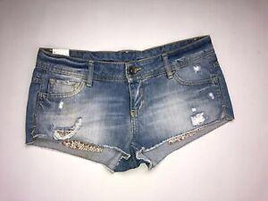 BENETTON Denim Shorts/Hotpants - W28 - Faded Blue - Great Condition - Women's