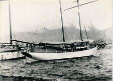 TAHITI c. 1940 - Port Papeete Grand Voilier Photo Nordmann  - NV 2132