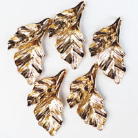 12Pcs Newest Carved Tibetan gold leaf Pendant Bead 32x20x5mm