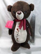 "Hallmark Artist Collection Hugs and Stitches Bear 15"" Plush"