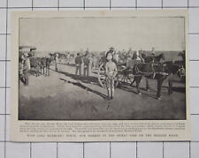 Boer War Lord Methuen's Force Ar Market On The Modder River 1900 News Clipping