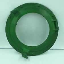 "Nautical 11"" Porthole Ship Cabin Window w/ Glass Rustic Green Finish"
