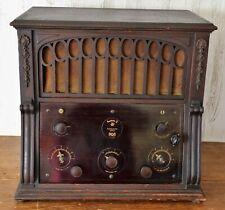 *Rare* Vtg (1924) Radiola X Broadcast Battery Set Tube Radio Receiver