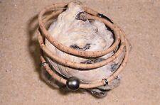 Bracelet Perle de Tahiti sur Cordon Liège