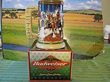 1998 Budweiser Holiday Beer Stein 'Grant's Farm Holiday' w/Box