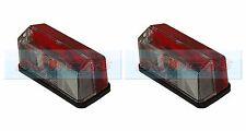 2x Hella rojo blanco Luces de las lámparas de posición laterales transparentes Elddis Hymer caravana autocaravana