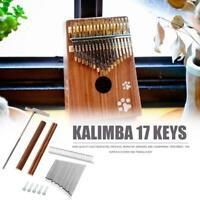 17 Key Kalimba Mbira Thumb Piano Keyboard Instrument w/ Keys+Bridge+Tone-Hammer