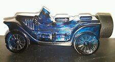 Avon Stanley Steamer Decanter Wild Country Cologne Bottle Blue Car Auto Vtg