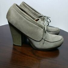 NINE WEST Vintage America Collection Snowdrift Taupe Suede Ankle Booties Sz 8 M