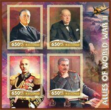 Stamps Allies of World War II Stalin, Roosevelt, Chiang Kai-shek