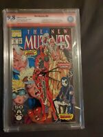 NEW MUTANTS 98 CBCS 9.8 Signed by Liefeld & Nicieza 1ST APP DEADPOOL!