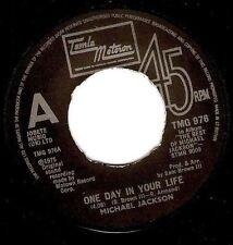 "MICHAEL JACKSON One Day In Your Life 7"" Single Record TMG 976 Tamla Motown 1981"