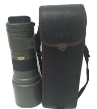 Sigma 400 MM f5.6 Canon FD Telephoto lens w/ Case Lens Cap