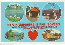 LOT OF 6 NEW POSTCARDS   NEW HAMPSHIRE IS FOR LOVERS     NH-23  NEW