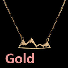 Jewelry Gold/Silver Plated Necklace Mountain&Mountain Pendant Long Chain