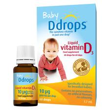 Baby Ddrops Vitamin D3, 10 µg ( 400 IU ) 60 drops