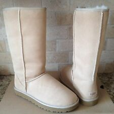 UGG Classic Tall II Sand Water-resistant Suede Sheepskin Boots Size US 7 Womens