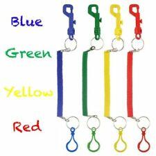 Spiral Key Chain Snap Belt Clip On Ring Stretch Coil Spring Keyring Safe Kids UK