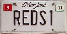 Maryland vanity RED AUDI S1 car license plate Invicta sports Auto Bentley Lotus