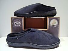 New Totes Toasties Mens Size Xl 11-12 Black Memory Foam Slippers
