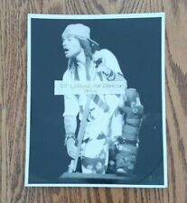Guns N' Roses Axl Rose Live On Stage 8X10 Glossy Black&White Photo! Very Rare!