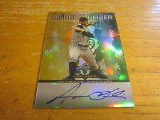 Andy Oliver Autographed 2011 Leaf Valiant Draft #AO1 Card MLB Detroit Tigers