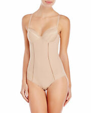 Chantelle Vous et Moi Collection 34D Shaper Bodysuit UW Molded Cups Nude New