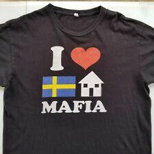 Swedish House Mafia I Love Mens T Shirt sz Large House EDM Dance Black T-shirt