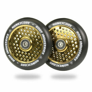 Root Industries Honeycore 110mm Scooter Wheels - Black Gold (Set of 2)