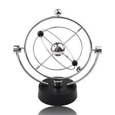 Electric Newton Cradle Steel Balance Ball Physics Science Pendulum Ornament R1BO
