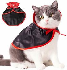 Cat Costume Halloween Party Vampire Costumes Pet Cloak for Small Dogs and Cats