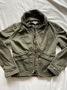 Picasso Army Green Fashion Festival Jacket Size Small