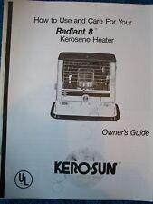 KERO-SUN Radiant 8  Owners/Parts Manual
