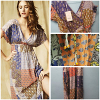 Ladies Monsoon Patchwork Maxi Dress BNWT Hippie Boho Summer Cover Up RRP £59.99