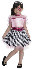 PIRATE BARBIE Costume Girl Dress w Headpiece + Heart Eye Patch Child Medium 8 10