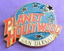Planet Hollywood SAN DIEGO Classic Globe Red, White & Light Blue Lapel PIN New!