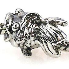 Wholesale 20pcs Gold Fish Silver European Bracelet Spacer Charm Beads D213