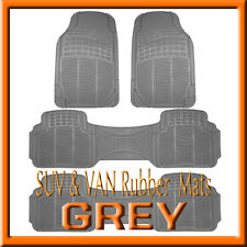 HONDA  ODYSSEY  ALL WEATHER  SEMI CUSTOM  GRAY  RUBBER FLOOR MATS / 4 PCS