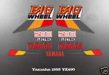 YAMAHA 1987 BW200 DECAL GRAPHIC KIT LIKE NOS