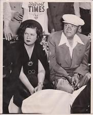 June 1947 NY Yankees BABE RUTH and Wife in Stands - Walter Steiger News Photo