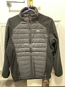 Trespass Saunter Mens Fleece Hybrid Jacket Padded Heavyweight & Casual Small