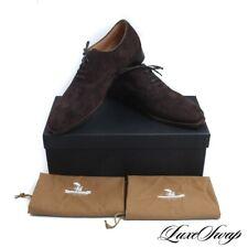 NIB The Armoury Made in England Wyndham Hajime Raisin Brown Suede Shoes 8.5 #R52