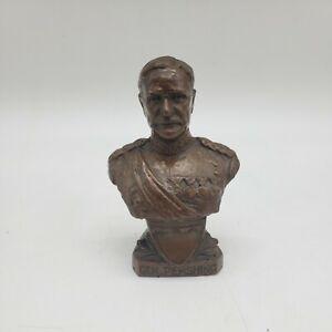 "4"" metal Bust statue of General Pershing j5"