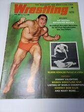 SUMMER 1961 WRESTLING REVUE MAGAZINE ANTONIO ROCCA COVER women wrestling war vtg