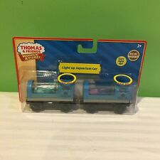 NEW RARE THOMAS & FRIENDS WOODEN RAILWAY LIGHT UP AQUARIUM CAR SHARK & SQUID
