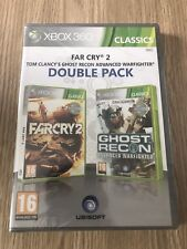 LOT 2 JEUX FAR CRY 2 GHOST RECON XBOX 360 FRANÇAIS NEUF BLISTER NEW SEALED RARE