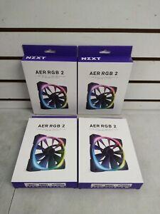 NZXT Fan AER RGB 2 Fan 140mm 4 pack (Shelf 12)(J)