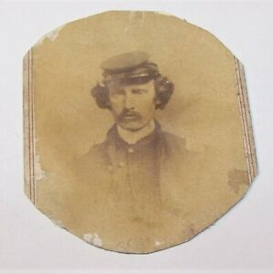 ANTIQUE CIVIL WAR SOLDIER CDV PHOTO CHAS GIERS PHOTOGRAPHER NASHVILLE TENNESEE